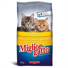 M.GATTO CROCCANTINI KG.2 POLLO/TACCHINO/VERDURE