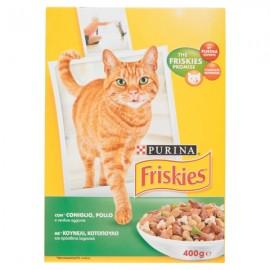 FRISKIES CAT ADULT GR.400 CONIGLIO/POLLO/VERDURE