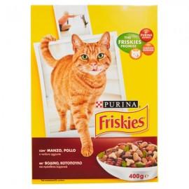 FRISKIES CAT ADULT GR.400 MANZO/POLLO/VERDURE