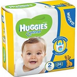 HUGGIES UNISTAR 2 MIS.MINI KG.3-6 PZ.24