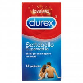 DUREX SETTEBELLO PZ.12 SUPERSOTTILE