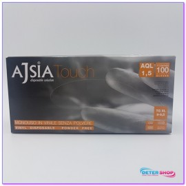 AJSIA GUANTI VINILE TOUCH 100PZ. MISURA EXTRA LARGE