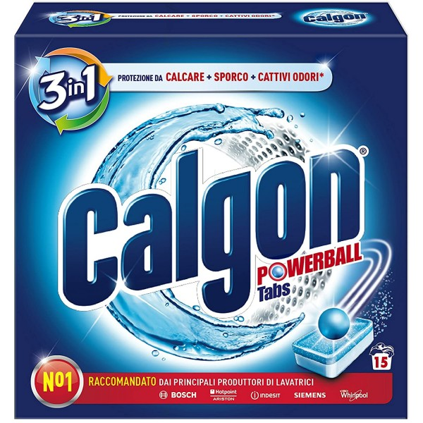 CALGON TABS 15 PEZZI PROTEGGE DAL CALCARE E MANTIENE LA LAVATRICE PULITA