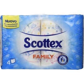 SCOTTEX CARTASPUGNA FAMILY 4 ROTOLI CONVENIENZA