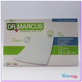 DR.MARCUS COMPRESSE DI GARZA IDROFILA STERILE CM.18X40 PZ.12