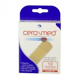 CEROXMED CLASSIC 3D CEROTTI STERILI IPOALLERGENICI 12PZ.GRANDI CM.7,2 X 2,5