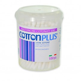 COTTON PLUS BASTONCINI COTONATI 100PZ.BIODEGRADABILI