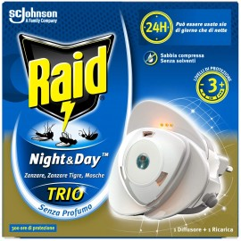 RAID NIGHT&DAY TRIO ELETTRODIFFUSORE + RICARICA EFFICACIA REGOLABILE
