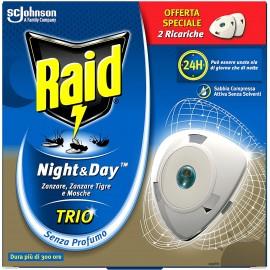 RAID NIGHT&DAY TRIO DOPPIA RICARICA EFFICACIA REGOLABILE