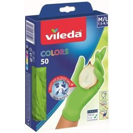 VILEDA GUANTI COLORS 50 MISURA 7,5-8,5 M/L