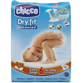 CHICCO PANNOLINI DRY FIT 6MIS.EXTRA LARGE 16-30KG. PZ.14