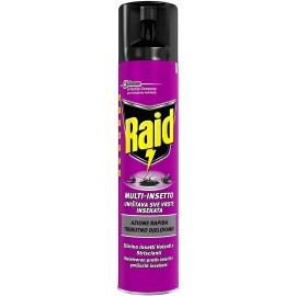 RAID MULTI-INSETTO SPRAY 300ML.ELIMINA INSETTI VOLANTI E STRISCIANTI