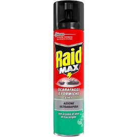 RAID SCARAFAGGI&FORMICHE MAX SPRAY 400ML.