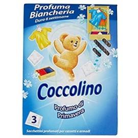 COCCOLINO PROFUMATORE BIANCHERIA 3 SACCHETTI PROFUMAZIONI MISTE