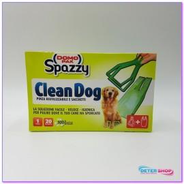DOMOPAK CLEAN DOG 1 PINZA RIUTILIZZABILE + 20 MINI SACCHETTI RIFIUTI