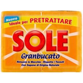 SOLE SAPONE GIALLO GRANBUCATO GR.250 PZ.2 IDEALE PER PRETRATTARE