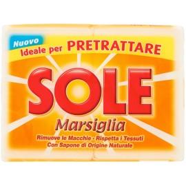 SOLE SAPONE BIANCO MARSIGLIA GR.250 PZ.2 IDEALE PER PRETRATTARE