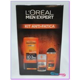 L'OREAL MEN EXPERT CONFEZIONE REGALO KIT ANTI-FATICA (1 GEL DOCCIA + 1 DEODORANTE ROLL ON + 1 CREMA VISO ANTI-ETA')