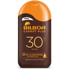 BILBOA CARROT PLUS LATTE SOLARE FP30 PROTEZIONE ALTA 200ML.CON SETA-CAROTENE POTENZIATO