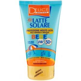 DELICE SOLAIRE BEBE LATTE SOLARE FP 50+ PROTEZIONE MOLTO ALTA 100ML.PELLI SENSIBILI E DELICATE