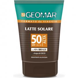 GEOMAR LATTE SOLARE SPF 50 PROTEZIONE ALTA 100ML.BIO ALOE A ACQUA DI COCCO