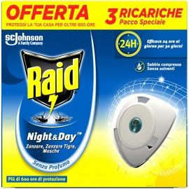 RAID NIGHT&DAY ZANZARE TIGRE E COMUNI PACCO SPECIALE DA 3 RICARICHE